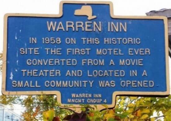 Warren Inn historic marker