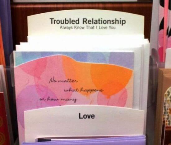 Troubled Relationship greeting card