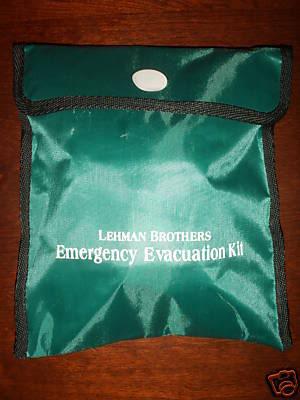 Lehman Brothers emergency evacuation kit