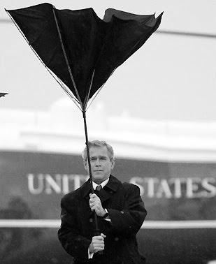george bush umbrella fail