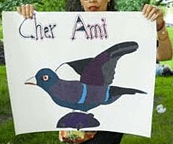 cher ami pigeon poster