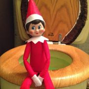 Naughty Little Elf Gets Off the Shelf